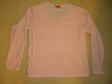 Gloria Vanderbilt Stretch Velvet Velour Pajama PJ Sleepwear Set Light Pink SMALL