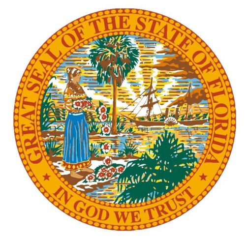 Seal of The State of Florida Sticker MADE IN USA R6 CHOOSE SIZE FROM DROPDOWN