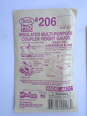 Kit Includes #148 /& #158 Scale Kadee HO #206 Insulated Coupler Height Gauge