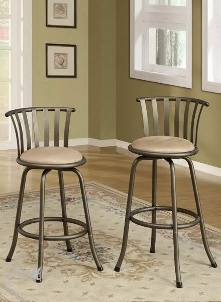 Swell 2 New Keene Pewter Metal Beige Microfiber Adjustable Swivel Bar Counter Stools Unemploymentrelief Wooden Chair Designs For Living Room Unemploymentrelieforg