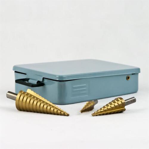 4-12mm// 4-20mm// 4-32 mm Bohrer mit Stufen Profi HSS Stufenbohrer im 3er-Set