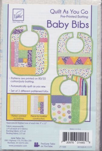 Quilt As You Go Baby Bibs 3 Different Baby Bib Patterns DIY June Tailor