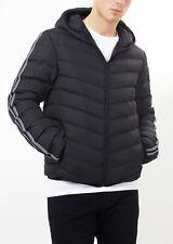 Mens Brave Soul Harrison Black Padded Hooded Jacket (WSA1) RRP £59.99