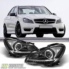 European 2012-2014 Mercedes Benz W204 C250 C300 C350 Halogen LED DRL Headlights