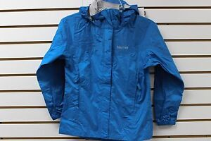 Marmot-Girls-Dry-Touch-PreCip-Jacket-Blue-Sea-Mosaic-Blue-56100-New-With-Tag