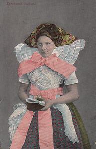 Alte-Ansichtskarte-Postkarte-Spreewald-Maedchen-inTracht-nicht-gelaufen