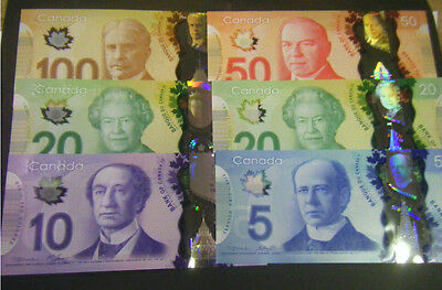 SET OF 5 DIFFRENTE $10 CANADIAN BANK NOTES IN GEM UNCIRCULATED CONDITION