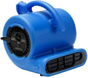 Air Mover Carpet Blower Drying Fan 1/4 HP 3-Speed Motor Portable Compact Blue