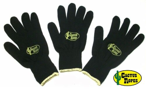 Black Roping Glove 3 Pack Medium by Cactus Ropes Official Rope of The PRCA New