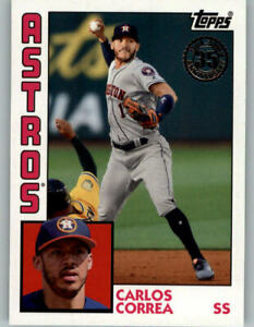 Details about 2019 Topps # T84-92 CARLOS CORREA 1984 Insert 35th Anniversary Houston Astros