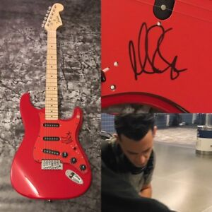 GFA-O-A-R-Crazy-Game-of-Poker-MARC-ROBERGE-Signed-Electric-Guitar-PROOF-COA