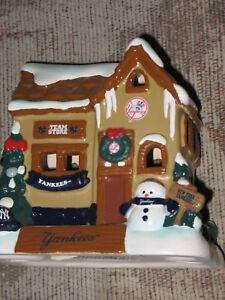 quality design 32c5d bbbd8 New York Yankees Christmas Village Ceramic House, Team Store ...