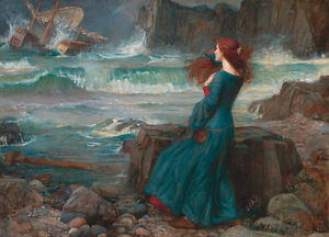 Miranda-The-Tempest-by-John-William-Waterhouse-A2-High-Quality-Canvas-Print