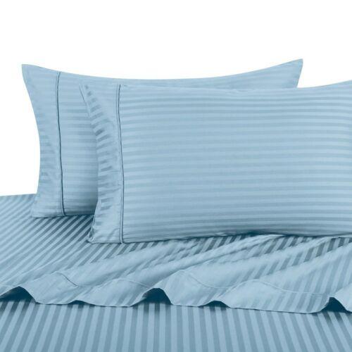 100/% Cotton 600 TC Damask Striped Deep Pocket Sheet Sets