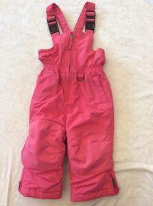 edafab31b264 Lands End Snowsuit 2T girls Pink Bib Overalls Winter Fun Grow Alongs ...
