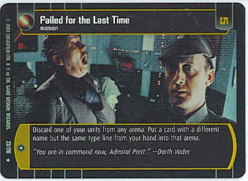 ESB Failed for the Last Time #23 Rare Star Wars TCG