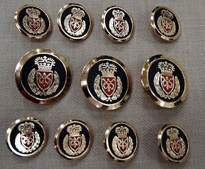 Crown Gold Blazer Buttons Set For Suit, Blazer, or Sport Coat ...