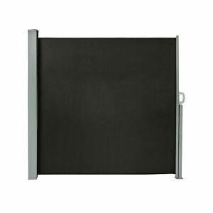 Seitenzugmarkise-Seitenmarkise-Markise-Sichtschutz-Sonnenschutz-schwarz-B-Ware