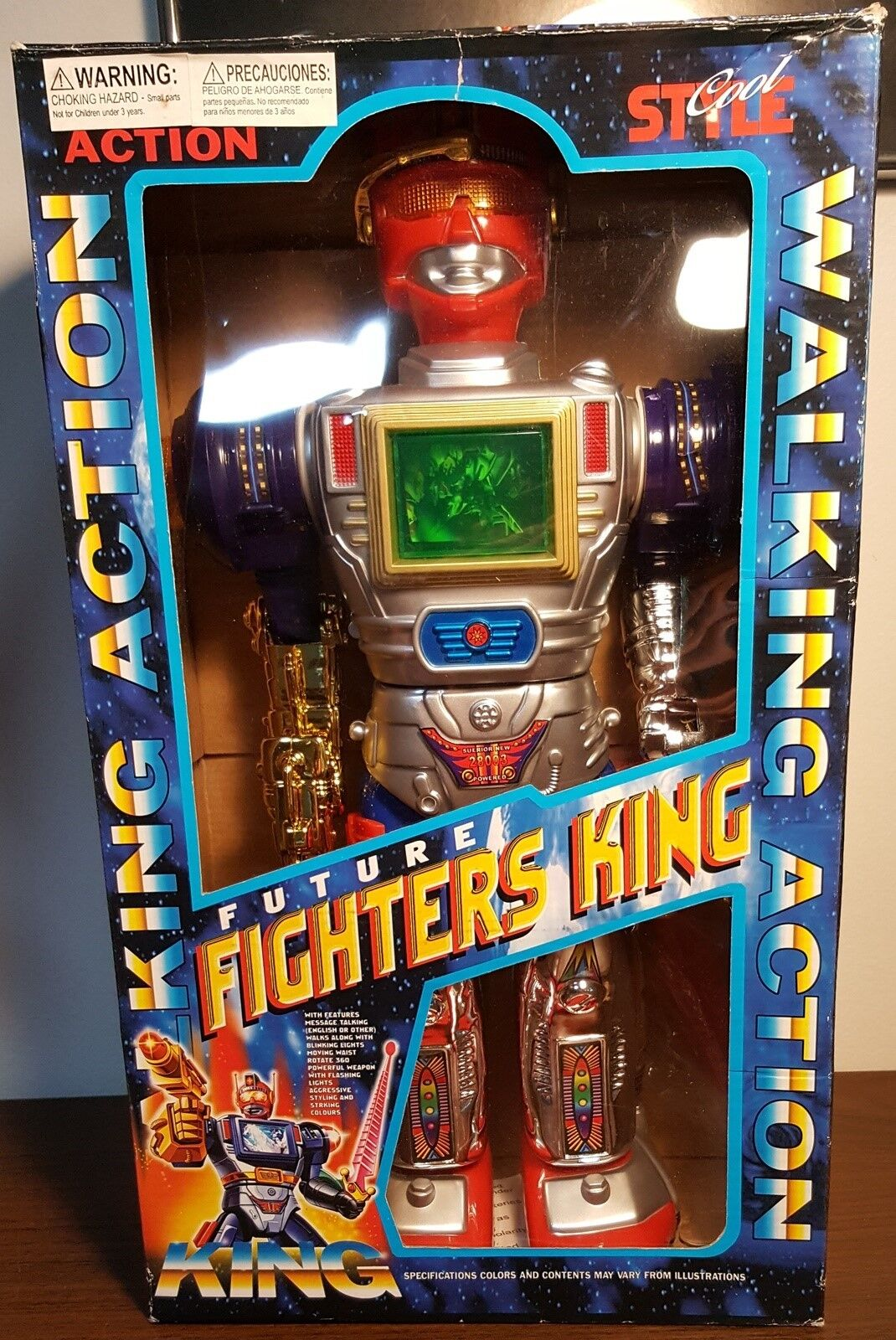 Feng Yuan Future Fighters King Walking Action Robot Toy MIB