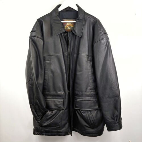 Vintage vtg 1990s World Alliance genuine leather j