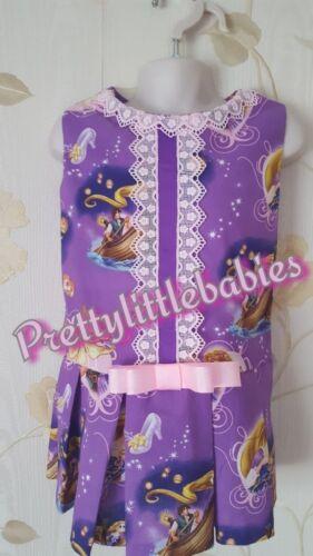 Girl Baby repunzal  Romany Spanish christmas Romper outfit  tartan  princess