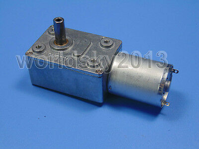 DC3V 6V 12V 24V Square High Torque 370 Worm Reduction Gear DC Motor with Gearbox