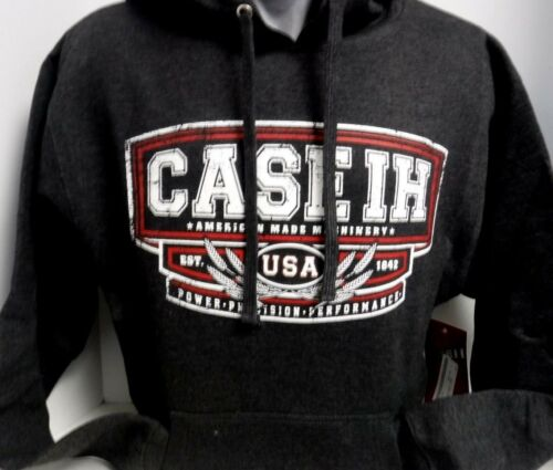 """Case IH Heather Charcoal /""""Power Precision Performance/"""" Pullover Men/'s Hoodie"""