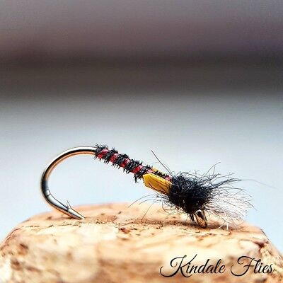Fly Fishing Flies Set of 3 Wicked White Diawl Bachs size 10