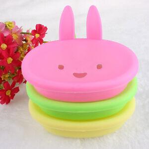 Wisely Cute Rabbit Plastic Holder Dish Soap Box Case Bathroom Washroom Decro