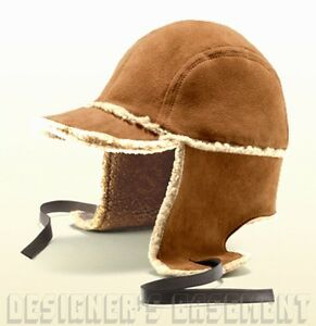 b2e093e77dc3b GUCCI cognac L Suede SHEARLING lined Trapper Russian USHANKA Hat NWT ...