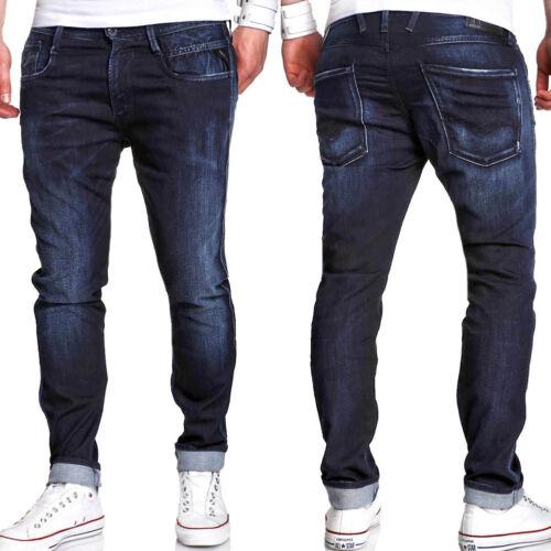 REPLAY Jogger-Jeans ANBASS Sweat-Jeans Slim Fit Dunkelblau M914.2172096 Blau NEU