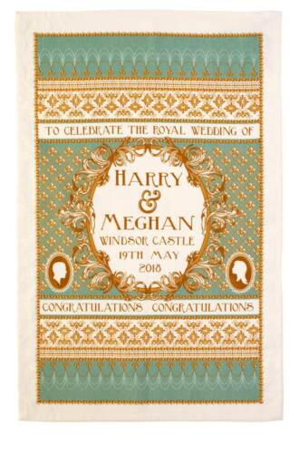 Ulster Weavers Drapeau Torchon mariage ROYAL Prince Harry Meghan Markle Queen 70th