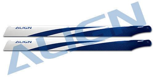Align Nouveau 325 Carbon Fiber Blades-Bleu HD320FT