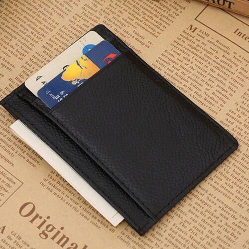 Fashion Men/'s Multifonctionnel pièce argent hommes carte sac cuir argent Clip portefeuille