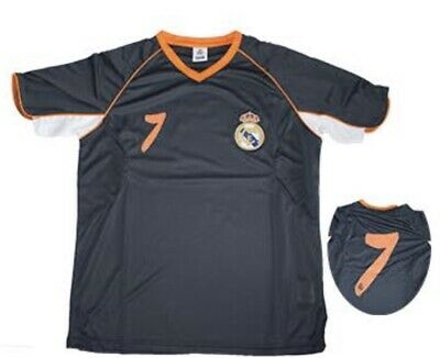 "new concept ce73a 1a202 ""Brand New"" Official Real Madrid FC Dark Gray & Orange Men's Jersey #7  Medium | eBay"