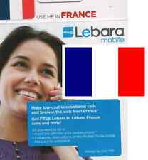 NEW FRENCH, PREPAID SIM card. For FRANCE. 1Є credit included. Travel.