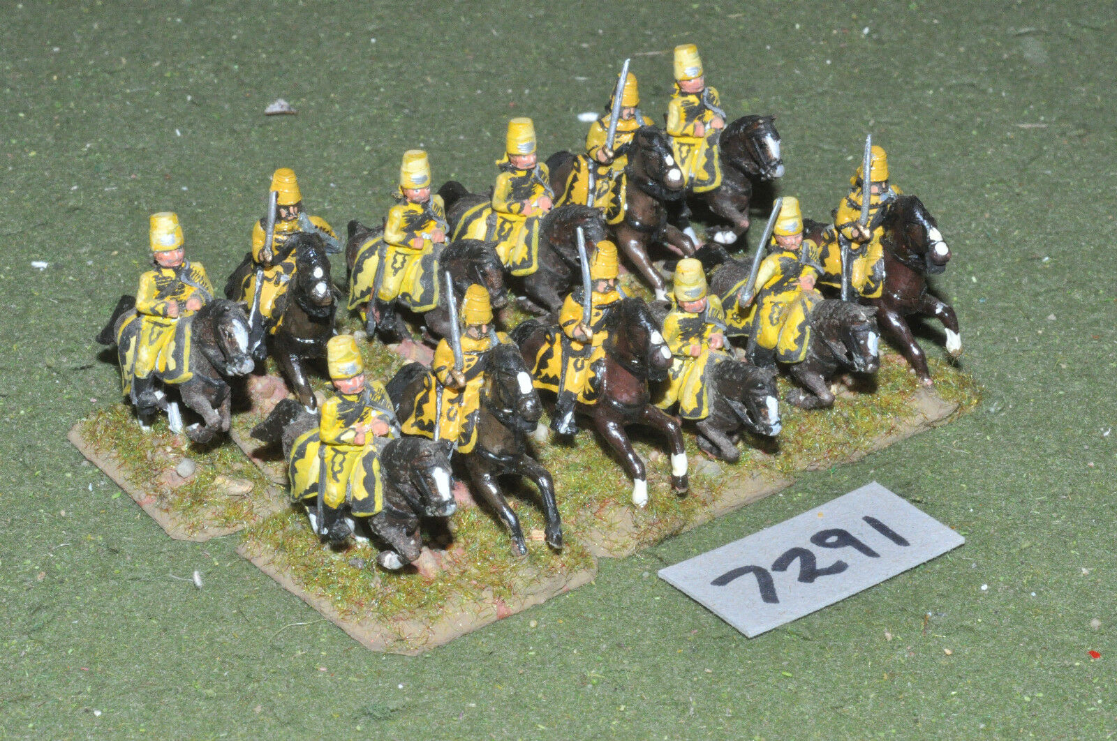 25mm 7YW   prussian - seven years war hussars 12 cavalry metal - cav (7291)