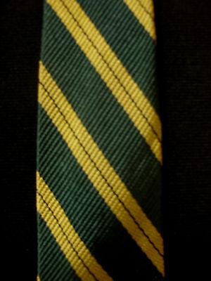 Zielsetzung Vintage 594ms-597ms Viskose Grün Krawatte Mit Gold Streifen GüNstige VerkäUfe
