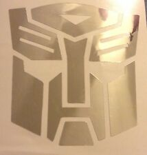 CHROME Transformers Autobot Car Laptop Decal Vinyl Sticker Window Laptop 17-26
