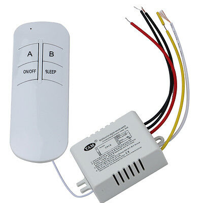 Wireless ON/OFF 2 Way 220V Led Lamp Remote Control Switch Receiver Transmitter