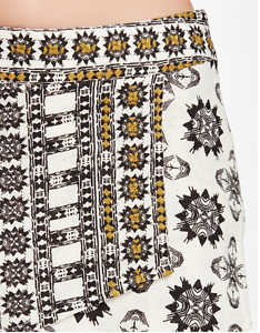 NWT FREE PEOPLE SKORT - Loose Weave Tribal Ivory Embroidered Cotton Size 8
