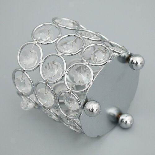Crystal Bowl Tea Light Candle Holder DIY Wedding Banquet Party Decor Silver