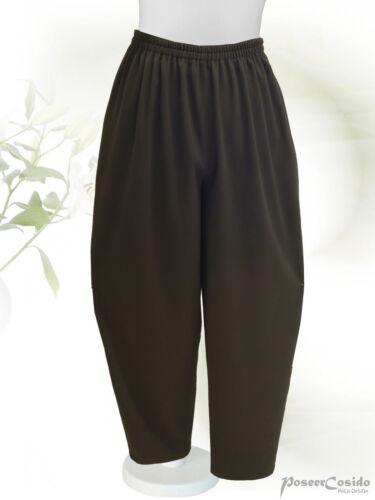 Poco Lagenlook palloncino-Pantaloni carota L-XL-XXL-XXXL 44 46 48 50 52 54 56 58 Nero