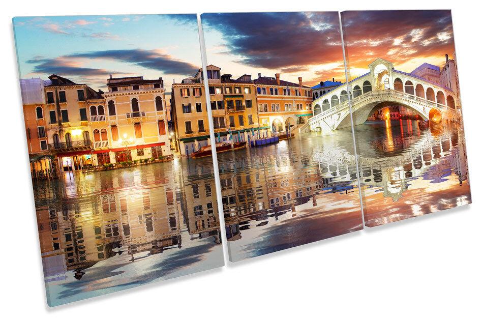 PONTE DI RIALTO Venezia Italia Italia Italia TREBLE TELA Wall Art Print PICTURE 73389f