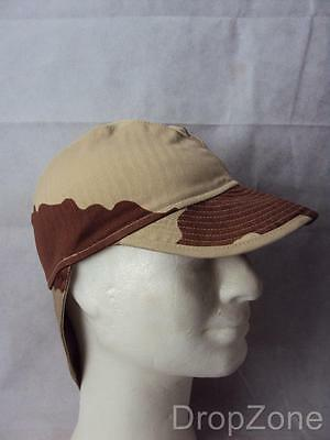 NEW French Army Military Desert Field Cap / Hat with Neck Protector