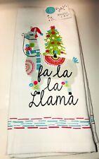 **FESTIVE LLAMAS** Holiday Hand Dish or Tea Towel Set of 2  Xmas Sale