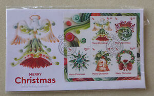 2017-NEW-ZEALAND-MERRY-CHRISTMAS-5-STAMP-MINI-SHEET-FDC-FIRST-DAY-COVER