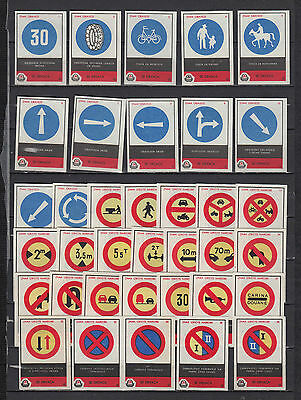 Série étiquettes allumettes Hollande Signalisation