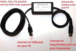 Yaesu-USB-Sound-Card-Digimode-Interface-PSK-JT65-FT8-etc-FT-897-857-817-991