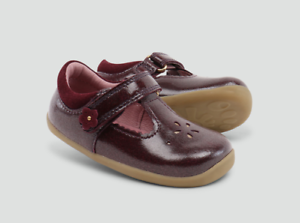 Bobux Childrens Girls Shine T Bar Shoes Bordeaux